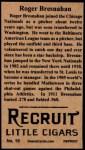 1912 T207 Reprint #19   Roger Bresnahan   Back Thumbnail