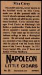 1912 T207 Reprints #25   Max Carey  Back Thumbnail