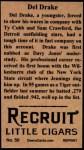 1912 T207 Reprint #50  Del Drake  Back Thumbnail