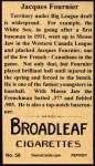 1912 T207 Reprints #59  Jacques Fournier  Back Thumbnail