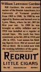 1912 T207 Reprint #62  Larry Gardner  Back Thumbnail