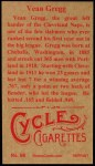 1912 T207 Reprint #68  Vean Gregg  Back Thumbnail