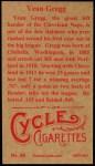 1912 T207 Reprint  Vean Gregg  Back Thumbnail