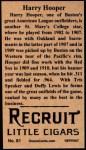 1912 T207 Reprint  Harry Hooper  Back Thumbnail