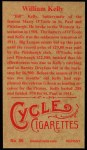 1912 T207 Reprint #86  William Kelly  Back Thumbnail