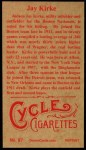 1912 T207 Reprint #87  Jay Kirke  Back Thumbnail