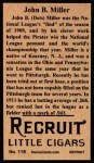 1912 T207 Reprint #119  Dots Miller  Back Thumbnail