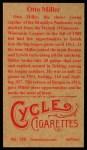 1912 T207 Reprint  Otto Miller  Back Thumbnail