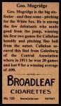 1912 T207 Reprint #125  George Mogridge  Back Thumbnail