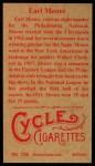 1912 T207 Reprint #126  Earl Moore  Back Thumbnail
