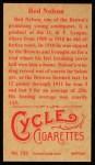 1912 T207 Reprint  Red Nelson  Back Thumbnail
