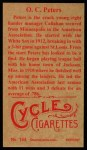 1912 T207 Reprint #144  O. C. Peters  Back Thumbnail