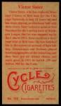 1912 T207 Reprint #153  Victor Saier  Back Thumbnail
