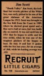 1912 T207 Reprint #158  Jim Scott  Back Thumbnail
