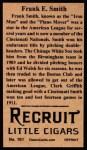 1912 T207 Reprint #161  Frank E. Smith  Back Thumbnail