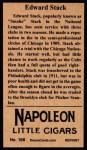 1912 T207 Reprint #166  Edward Stack  Back Thumbnail