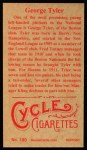 1912 T207 Reprint #180  George Tyler  Back Thumbnail