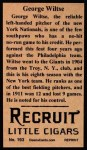 1912 T207 Reprints #193  Hooks Wiltse  Back Thumbnail