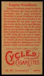 1912 T207 Reprint #197  Eugene Woodburn  Back Thumbnail