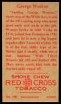 1912 T207 Reprint #186  George 'Buck' Weaver    Back Thumbnail