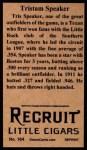 1912 T207 Reprint  Tris Speaker  Back Thumbnail
