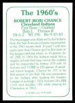 1978 TCMA The 60's #82  Bob Chance  Back Thumbnail