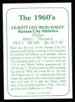 1978 TCMA The 60's #257  Bud Daley  Back Thumbnail