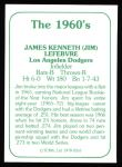 1978 TCMA The 60's #263  Jim LeFebvre  Back Thumbnail
