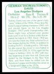 1978 TCMA The 60's #87  Tommy Davis  Back Thumbnail