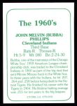 1978 TCMA The 60's #192  Bubba Phillips  Back Thumbnail