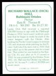 1978 TCMA The 60's #170 B Dick Hall  Back Thumbnail
