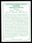 1978 TCMA The 60's #57  Steve Barber  Back Thumbnail