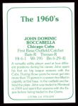 1978 TCMA The 60's #291  John Boccabella  Back Thumbnail