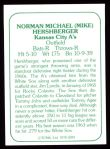 1978 TCMA The 60's #287  Mike Hershberger  Back Thumbnail