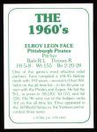 1978 TCMA The 60's #5  Roy Face  Back Thumbnail