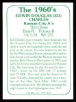 1978 TCMA The 60's #25  Ed Charles  Back Thumbnail