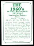 1978 TCMA The 60's #3  Don Drysdale  Back Thumbnail