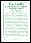 1978 TCMA The 60's #237  Donn Clendenon  Back Thumbnail