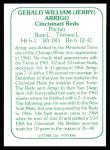 1978 TCMA The 60's #86  Jerry Arrigo  Back Thumbnail