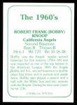 1978 TCMA The 60's #234  Bobby Knoop  Back Thumbnail