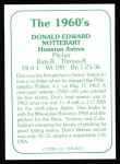1978 TCMA The 60's #72  Don Nottebart  Back Thumbnail