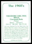 1978 TCMA The 60's #138  Ted Wills  Back Thumbnail
