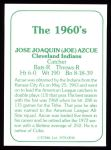 1978 TCMA The 60's #36  Joe Azcue  Back Thumbnail