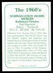 1978 TCMA The 60's #178  Norm Siebern  Back Thumbnail
