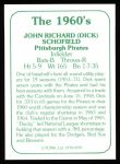 1978 TCMA The 60's #199  Dick Schofield  Back Thumbnail