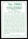 1978 TCMA The 60's #185  John Roseboro  Back Thumbnail