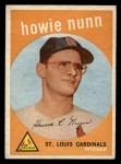 1959 Topps #549  Howie Nunn  Front Thumbnail