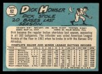 1965 Topps #92  Dick Howser  Back Thumbnail