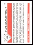 1979 TCMA The 50's #187   -  Walter Alston Dodger Braintrust Back Thumbnail