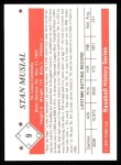 1979 TCMA The 50's #9  Stan Musial  Back Thumbnail